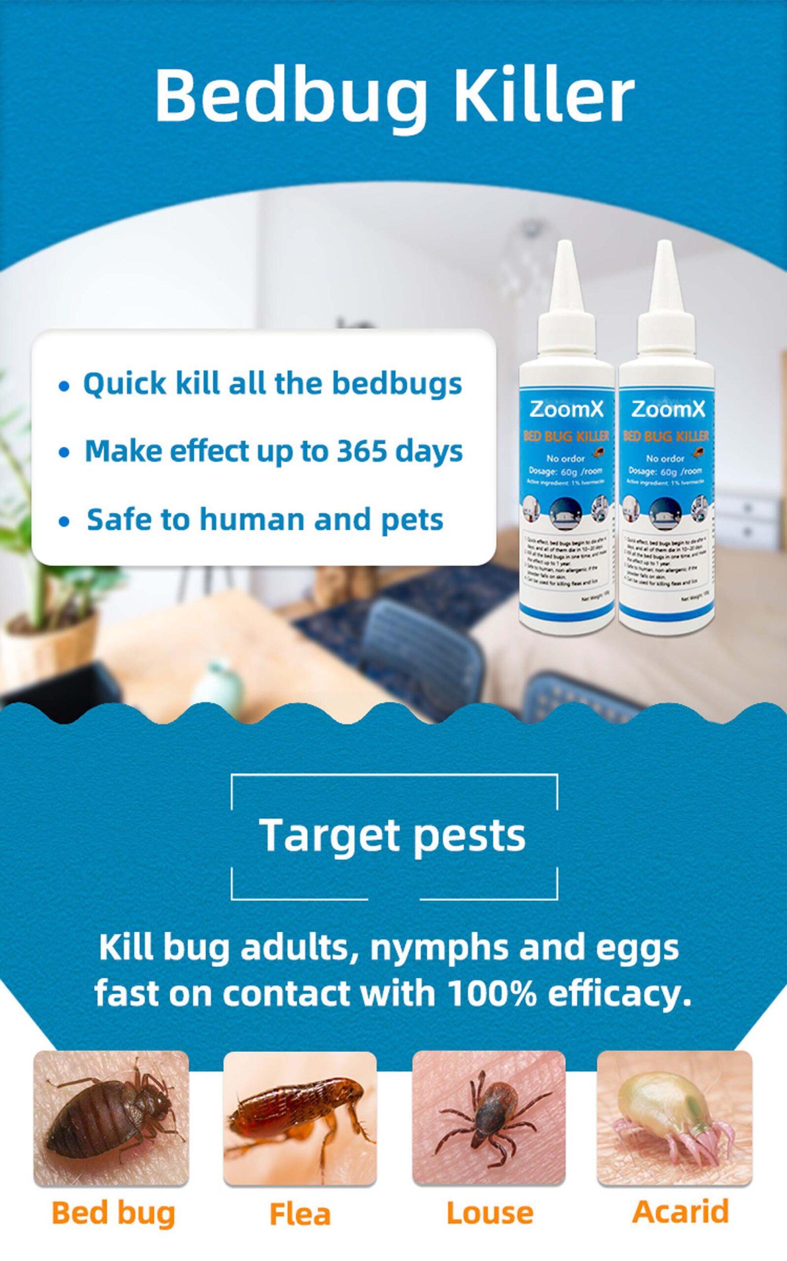 zoomx bedbugs killer ছারপোকা মারার ওষুধ